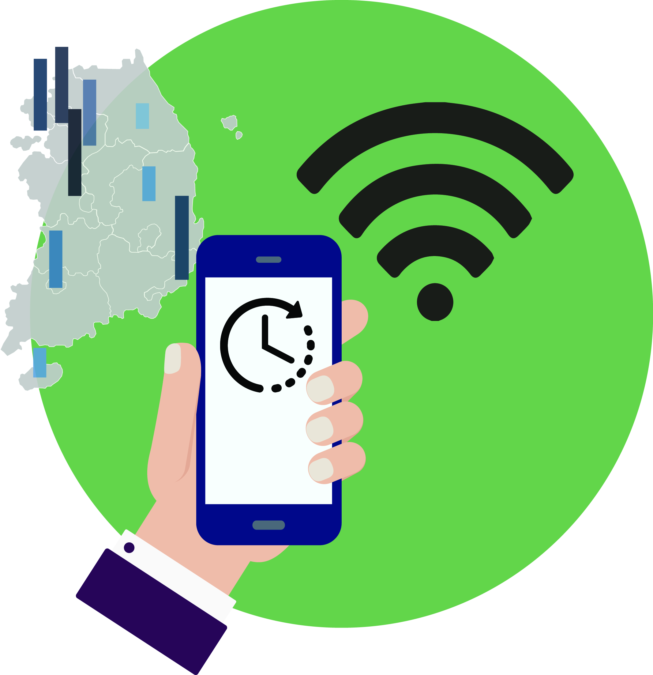 [통계실태조사] 모바일 인터넷 이용시간, 지역별 Wi-Fi 환경따라 큰 차이